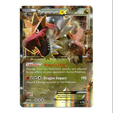 Pokemon X & Y Promo Single Card Rare Holo Tyrantrum-EX XY70
