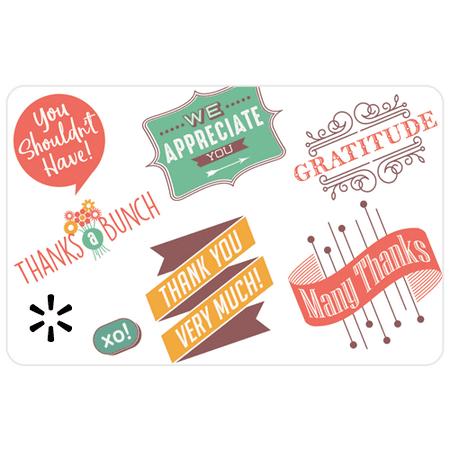 Thank You Logos Walmart eGift Card