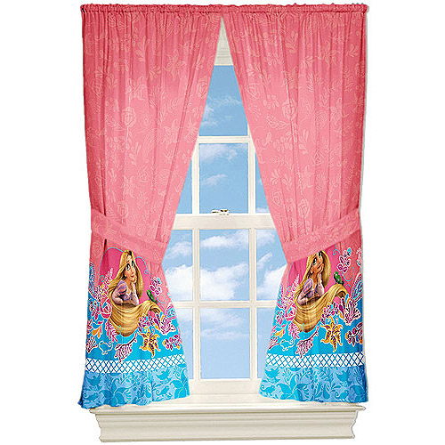 Disney Tangled Letting My Hair Down Curtain Panels, Set of 2