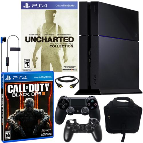 Sony PS4 500GB UNCHARTED Collection Bundle with Black OPS III & More