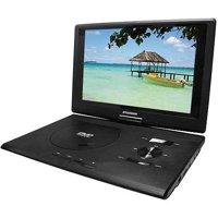 "Sylvania Premium 13.3"" Swivel Screen Portable DVD Player, Black"