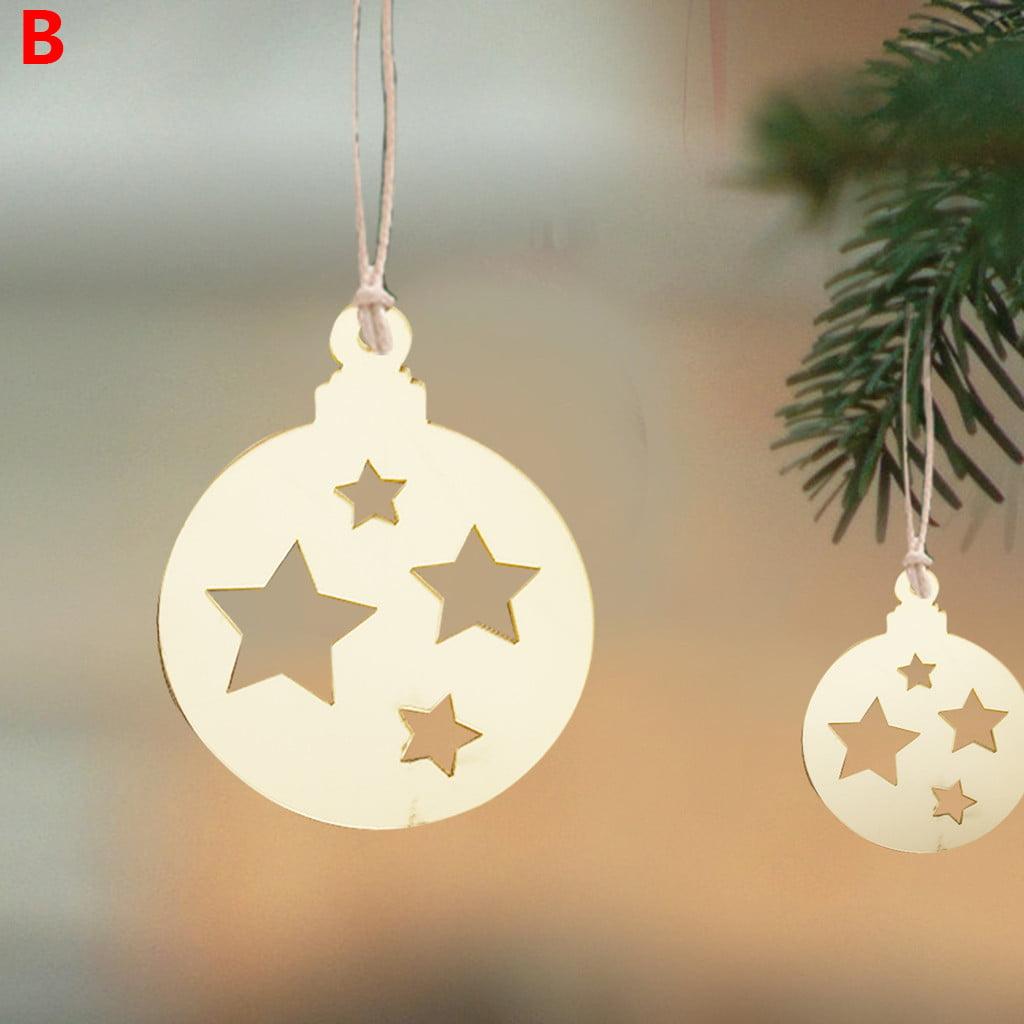 Mnycxen Christmas Pendant Christmas Acrylic Home Decoration Christmas Tree Ornaments Walmart Com Walmart Com