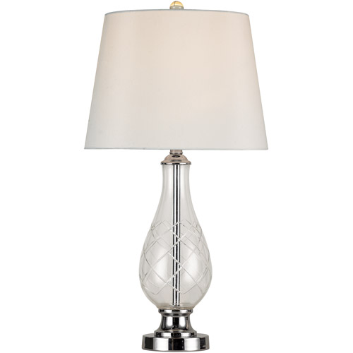 Belair Lighting Etched-Glass Crystal Table Lamp