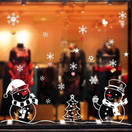 Outtop Christmas Snowman Removable Home Vinyl Window Wall Stickers Decal - Christmas Wall Decor