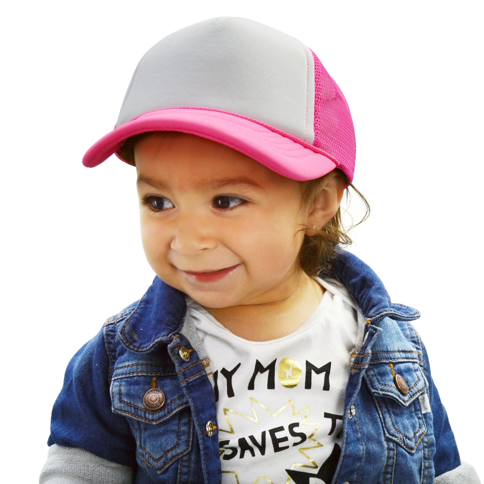 Dalix Dalix Infant Trucker Hat Baby Cap Tiny Extra Small Girls In Neon Purple White Walmart Com Walmart Com