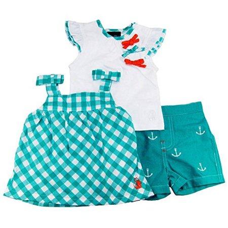 Rugged Bear Baby-Girls Spring Nautical 3 Piece Short Set 12 Months](Koala Bear Outfit)