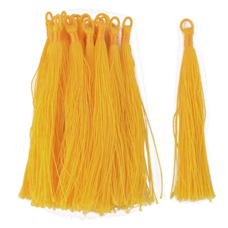 Wall Bag Car Phone Nylon Decoration Hanging Knotted Tassel Fringes Yellow 20 Pcs for $<!---->
