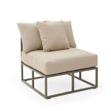 Belham Living Bonaire Aluminum Outdoor Armless Sectional Chair