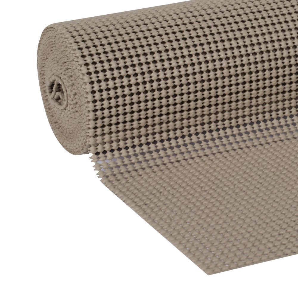 Duck Easy Liner Brand Shelf Liner Select Grip, Brownstone Clorox, 12 In x 10 Ft