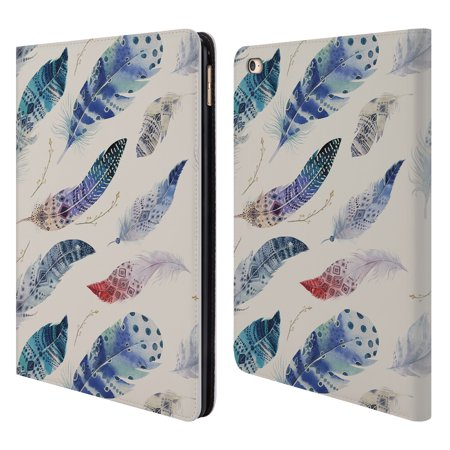 OFFICIAL KRISTINA KVILIS FEATHERS LEATHER BOOK WALLET CASE COVER FOR APPLE IPAD