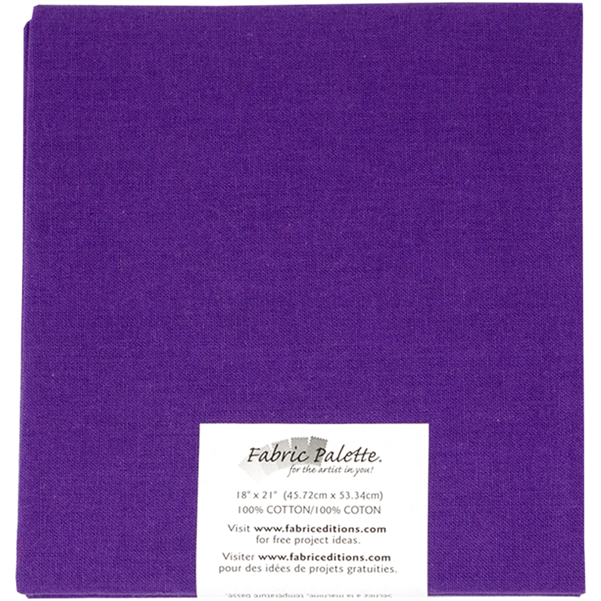 "Fabric Palette Precut 18""X21"" 1/Pkg-Purple"
