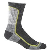 Darn Tough Vermont Merino Wool Hike/Trek Micro Crew Light Cushion Sock - Men's Charcoal/Lime 2X-Large