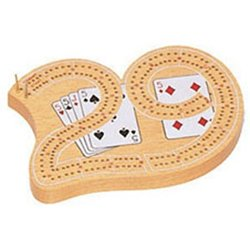 - Mini 29 Cribbage Board Game, One Color