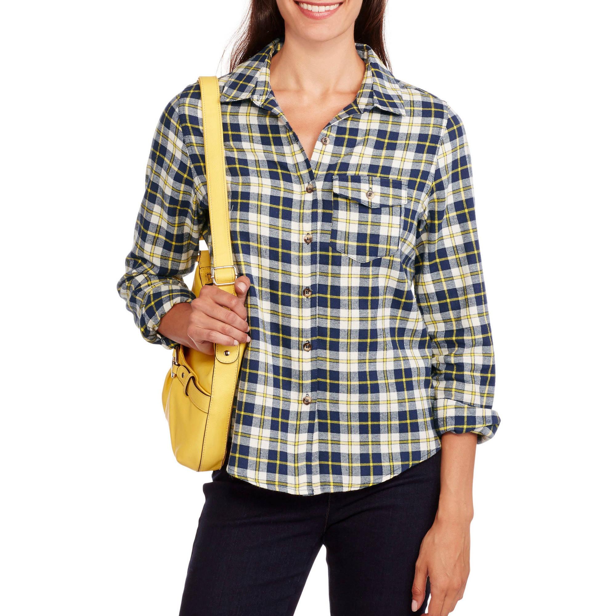 Brooke Leigh Women's One Pocket Lightweight Flannel