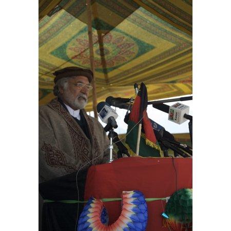 Quality Bridles (LAMINATED POSTER Konar Governor Sayed Fazlullah Wahidi explains how the Guryak Truck Bridge will improve the quality Poster Print 24 x 36 )