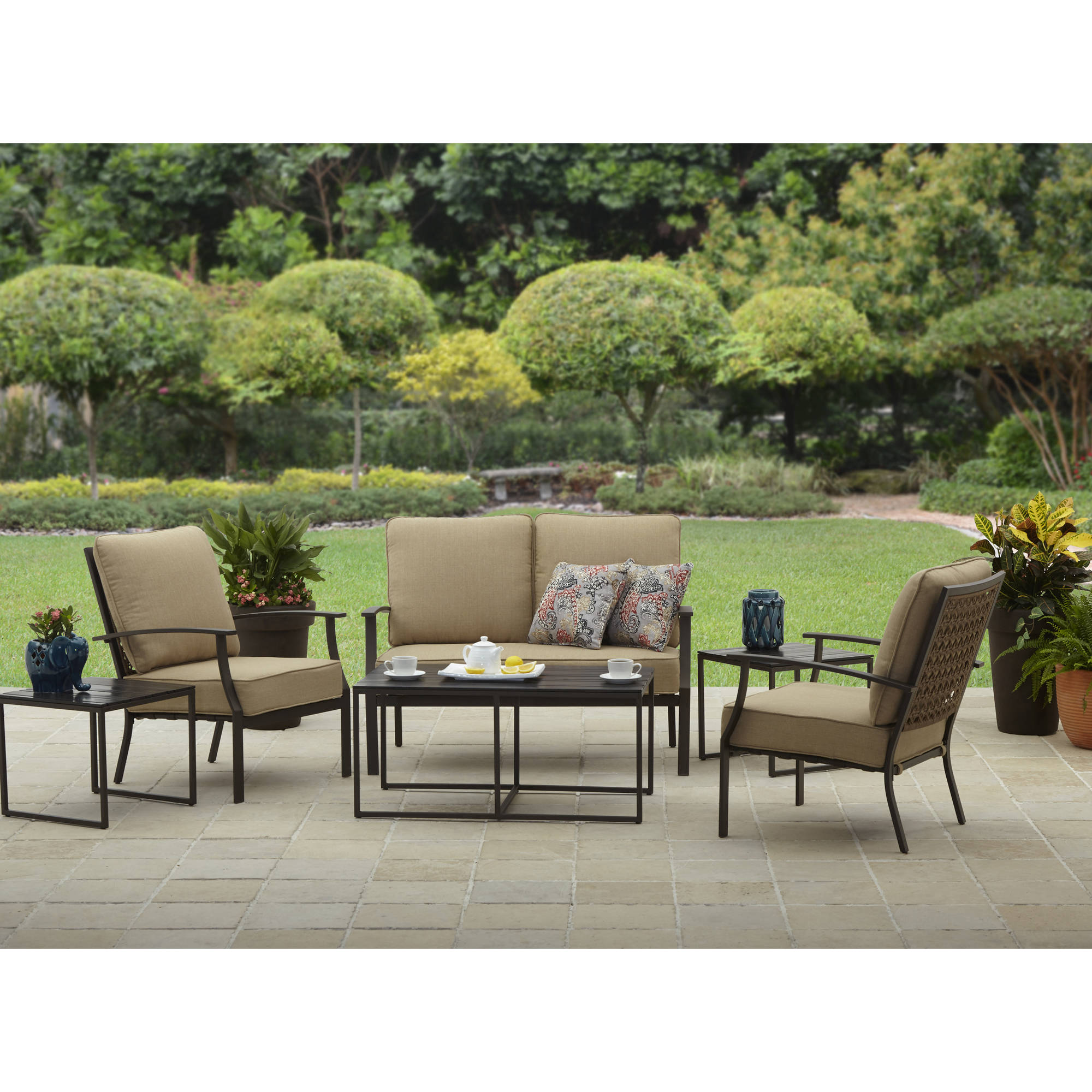 better homes and gardens sea haven piece conversation set  - better homes and gardens sea haven piece conversation set  walmartcom