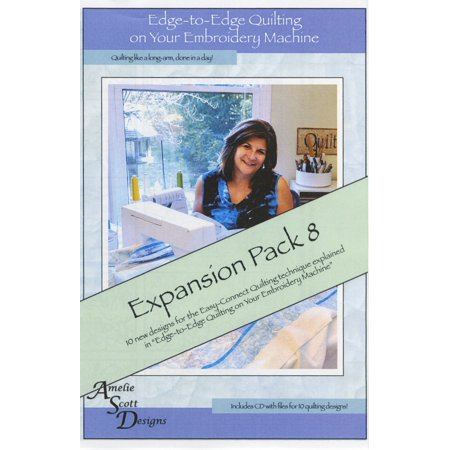 Edge-To-Edge Quilting On Your Embroidery Machine Expansion Pack 8 Cd: Includes CD with Files for 10 Quilting Designs