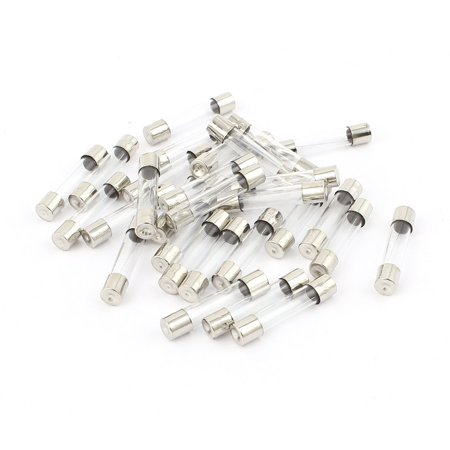 Unique Bargains 30pcs 6 x 30mm Fast-blow Low Breaking Capacity Cartridge Glass Tube Fuse 4A 250V