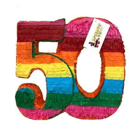APINATA4U 50TH Birthday Double Digits Pinata Fiesta - Fiesta Themes