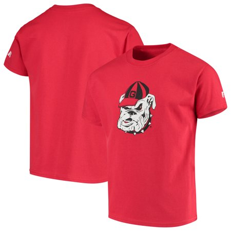Bulldogs Youth Team Color (Georgia Bulldogs Russell Youth Oversized Graphic Crew Neck T-Shirt - Red)
