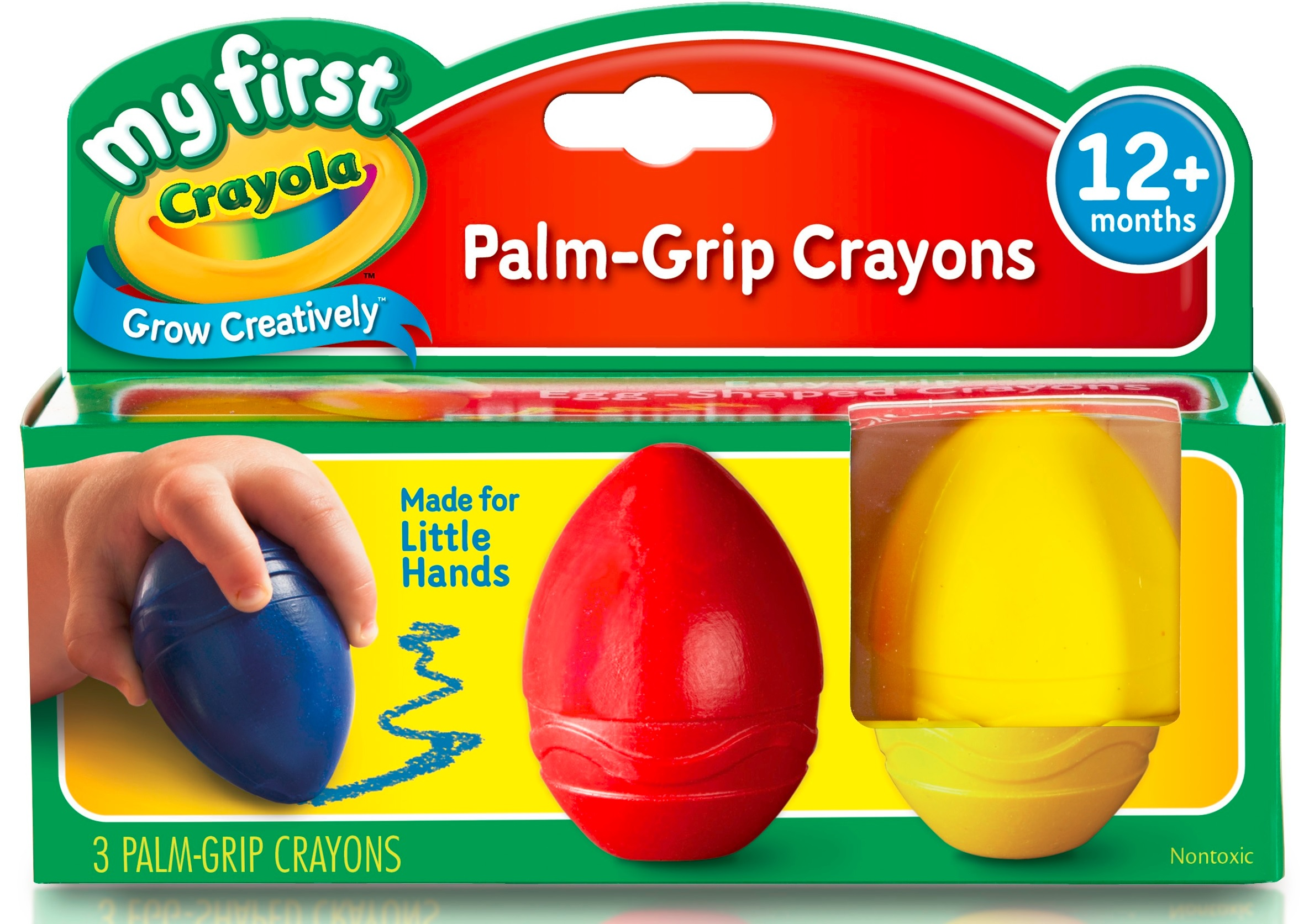 My First Crayola Palm-Grip Crayons red blue yellow 12+months Toddlers Babies