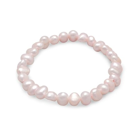 - Dyed Pink Cultured Freshwater Pearl Stretch Bracelet