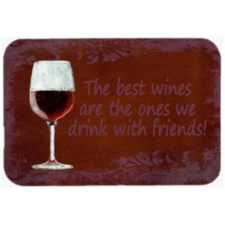 Image of 7.75 x 9.25 In. The Best Wines Are The Ones We Drink With Friends Mouse Pad, Hot Pad Or Trivet