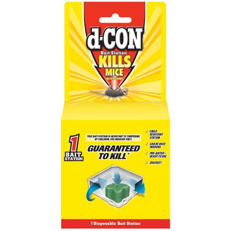 D Con Disposable Corner Fit Mouse Poison Bait Station  1 Bait Station