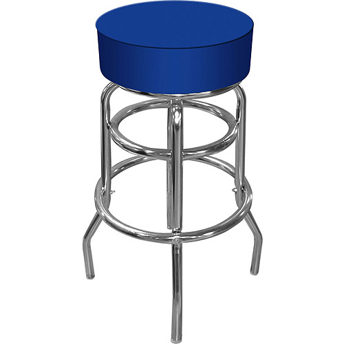 "Trademark Global High-Grade 30"" Padded Bar Stool, Blue"