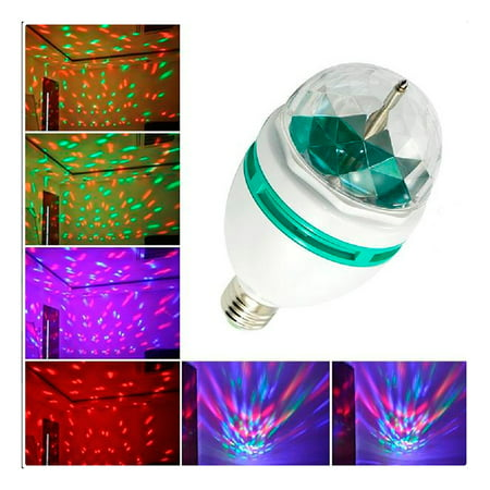 LED Rotating Light Lighting Full Color Disco Party Crystal Ball Lights Effects for $<!---->