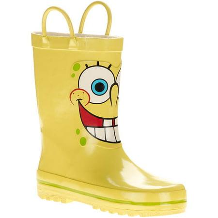 nickelodeon kid s spongebob squarepants rain boots walmart com