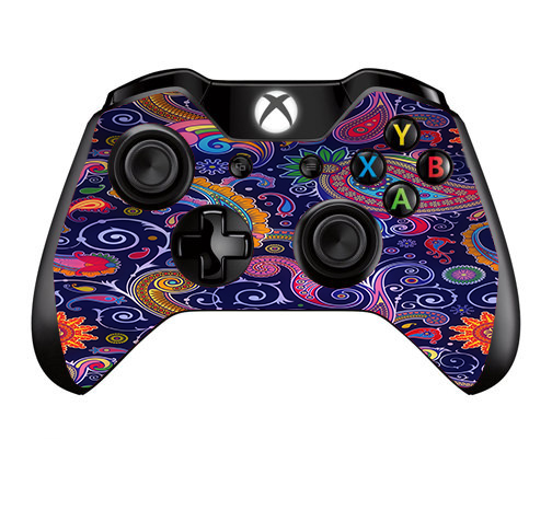 Skins Decals For Xbox One / One S W/Grip-Guard / Purple Paisley
