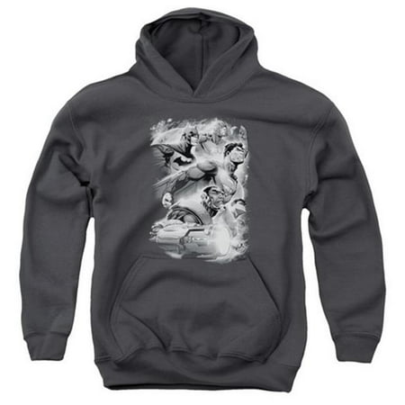 Jla-Atmospheric Youth Pull-Over Hoodie, Charcoal - Small - image 1 of 1