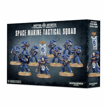 Warhammer 40k Model Miniatures - Space Marine Tactical Squad