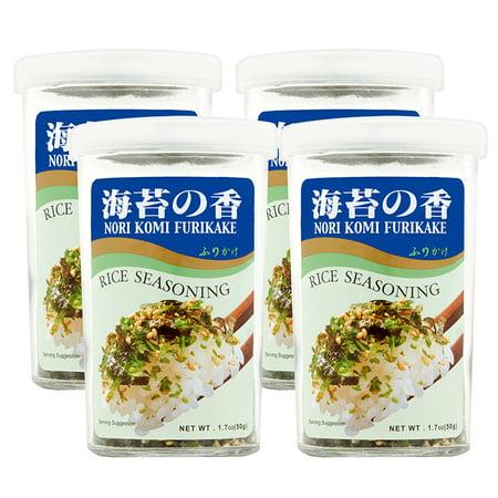 Rice Slices ((2 Pack) Nori Komi Furikake Rice Seasoning, 1.7 oz)