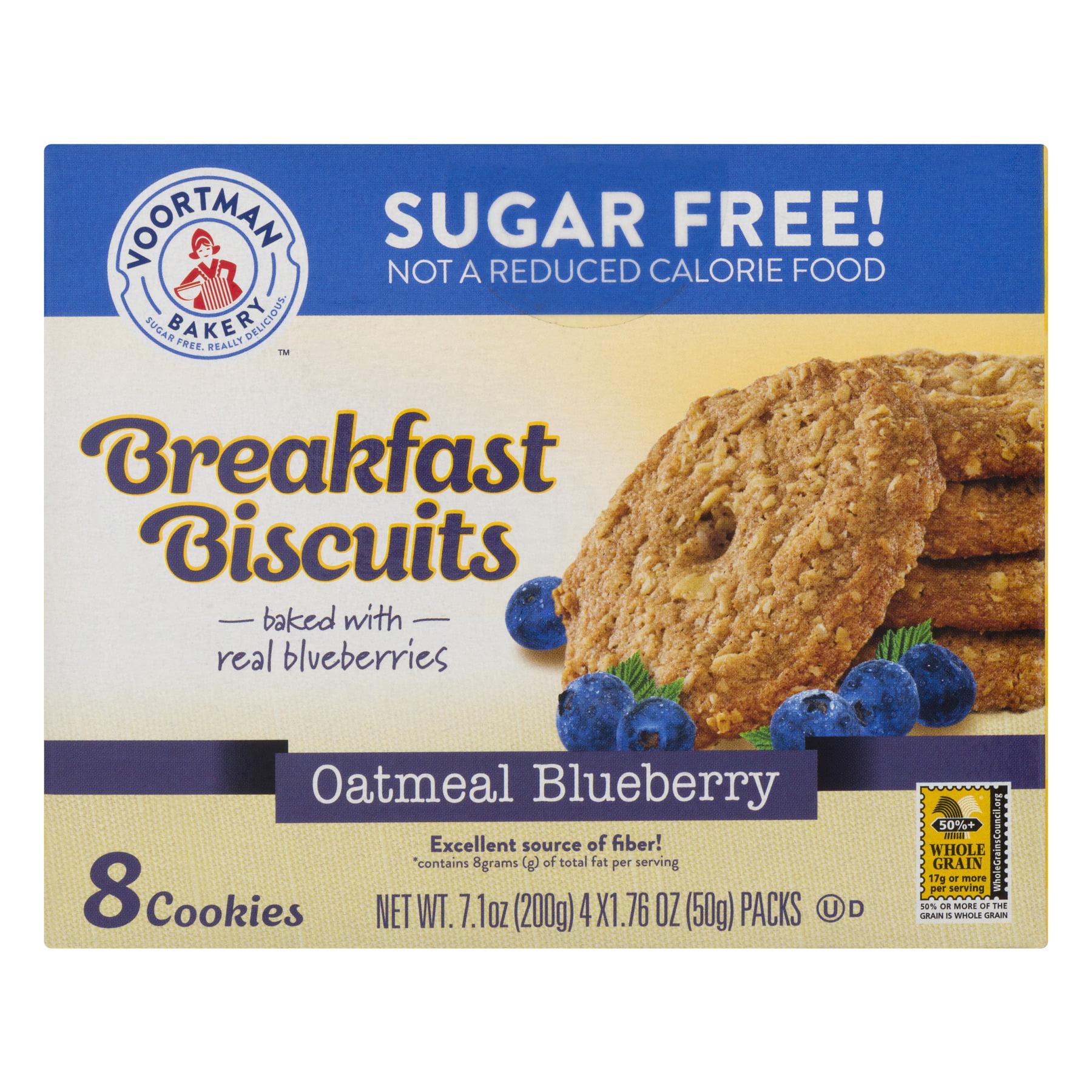 Voortman Breakfast Biscuits Oatmeal Blueberry, 7.1 OZ