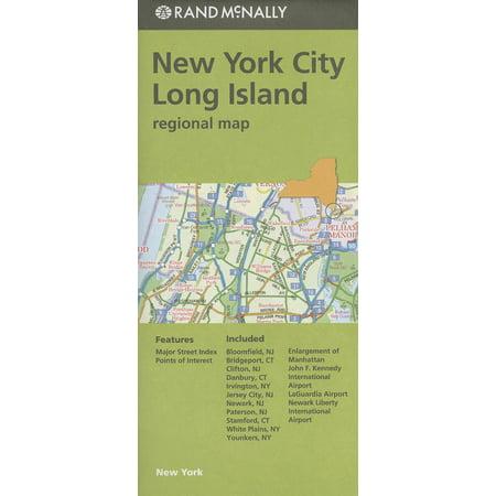 Rand mcnally: new york city/long island regional map - folded map: