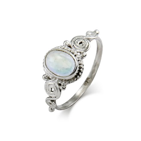 Sterling Silver Vintage Heirloom Moonstone Ring Iolite Moonstone Ring