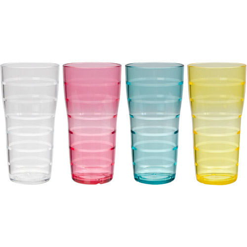 Creative Bath Lemonade Assorted 26-Ounce Tumblers, Set of 8