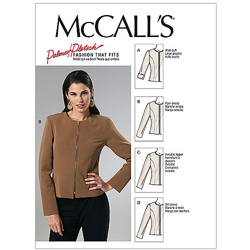 McCall's Pattern Misses' Lined Jackets, BB (8, 10, 12, 14)