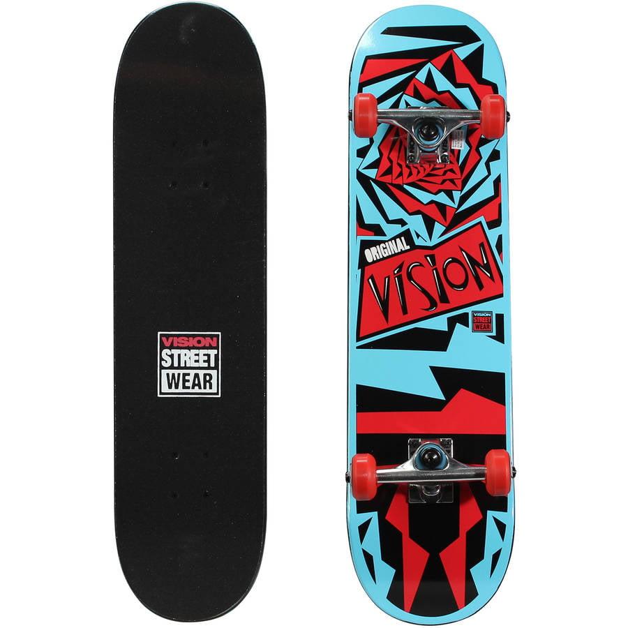 """Vision 31"""" Popsicle Complete Skateboard (31"""" x 7.75"""") OG-Daze by Bravo Sports"""