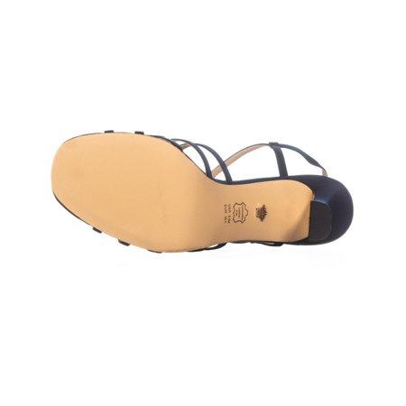 Nina Amabel Slim Heel Strappy Sandals, New Navy Luster - image 3 of 6