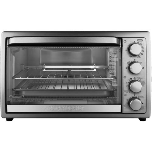 Black Amp Decker 9 Slice Rotisserie Convection Countertop
