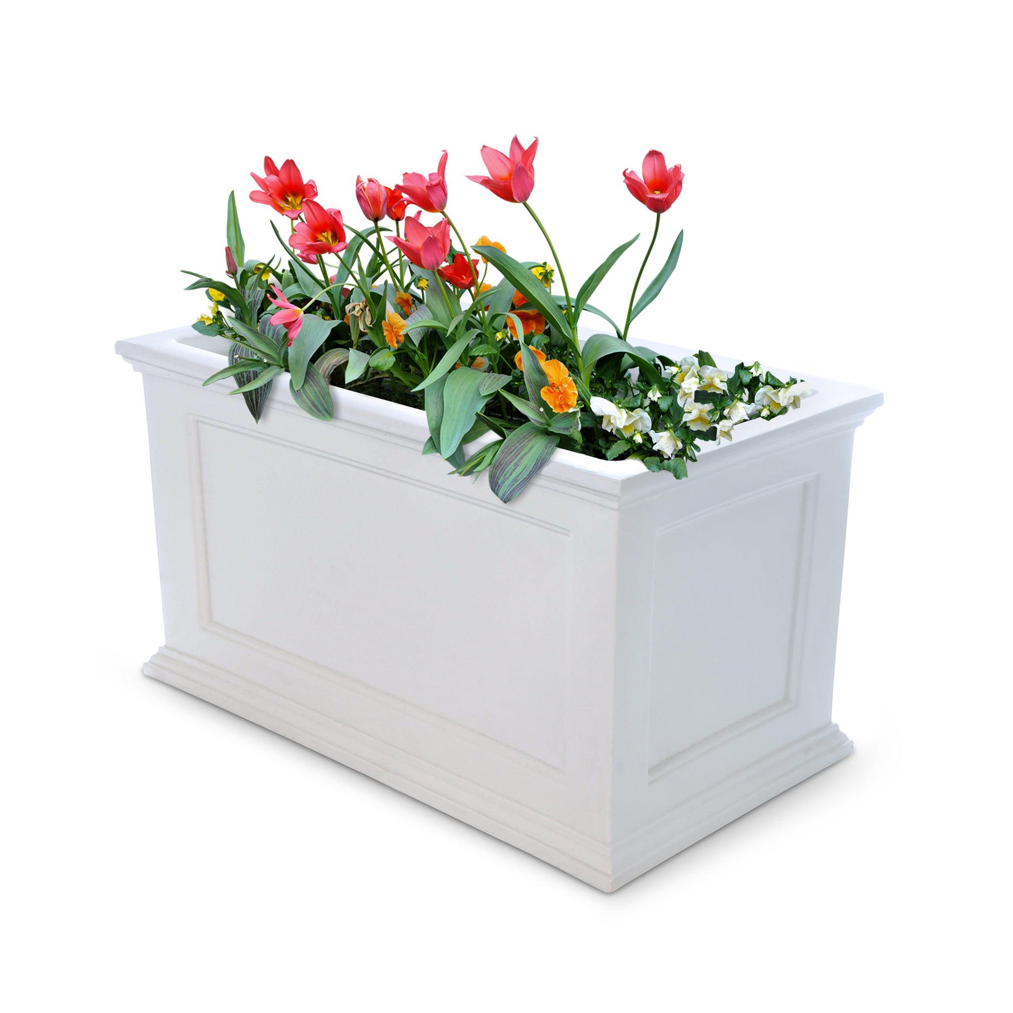 Fairfield Patio Planter 20x36 White