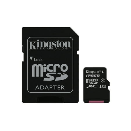 128GB microSDHC Canvas Select 80R CL10 UHS-I Card + SD Adapter  ()