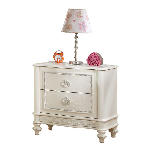 Acme Dorothy Nightstand with 2 Drawers, Ivory