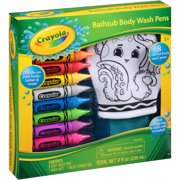 Crayola Bathtub Body Wash Pens Gift Set, 10 pc