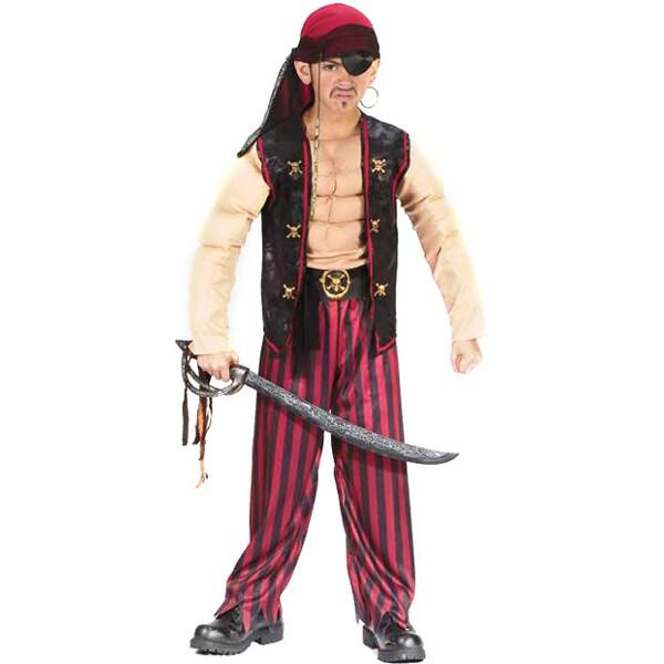 Childs Muscle Pirate Costume by
