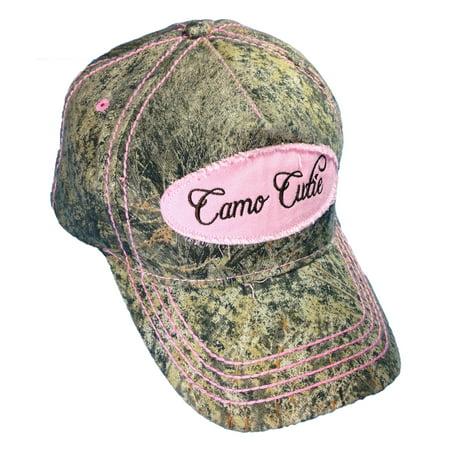 Camo Cutie Cap Womens Mossy Oak Camo Cap with Pink Camo Cutie - Mossy Oak Woven Cap