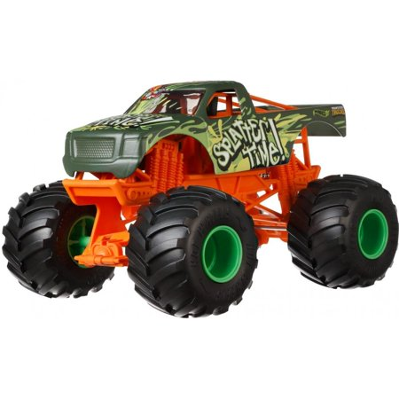 Hot Wheels Monster Trucks 1:24 Scale Splatter Time - Old Time Truck Spinner